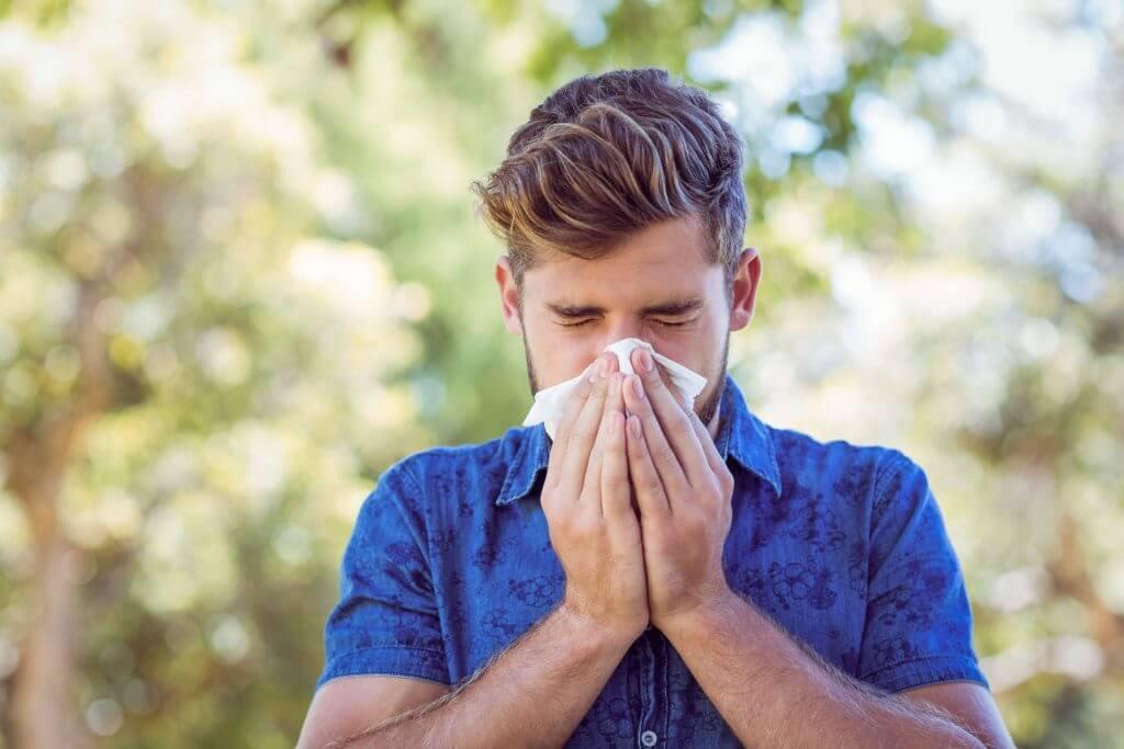 Häufiges Niesen als typisches Heuschnupfensymptom